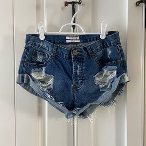 One Teaspoon Bandit Shorts | distressed